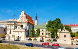 Discalced Carmelites-Kloster in Lublin Lizenzfreie Stockbilder