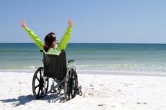 Discapacitado acertado de la mujer Imágenes de archivo libres de regalías