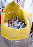 Discarded blood tubes and needles  Stock Photography