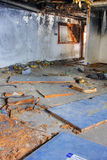 Discarded building. One room after fire Stock Photo