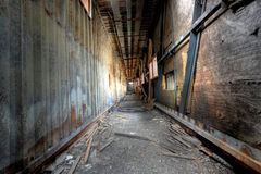 Discarded building. It is a discarded building, flyover royalty free stock photography