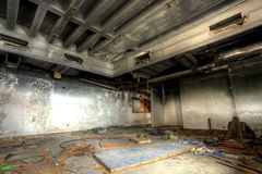Discarded building. A burned out room royalty free stock photography