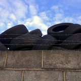 Discarded Car Tyres Royalty Free Stock Photography