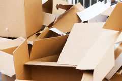 Discarded cardboard boxes Stock Photo