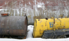 Discarded Chemical Tanks Royalty Free Stock Photo