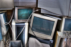 Discarded CRT monitors Stock Photography