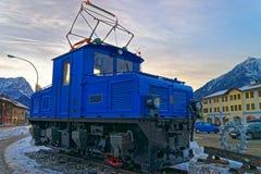Discarded electric cog locomotive in Garmisch-Partenkirchen Stock Photo
