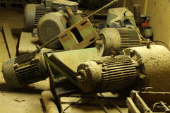 Discarded electric motors Royalty Free Stock Image