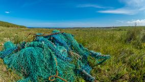 Discarded fishing gear. Orkney, Scotland royalty free stock image