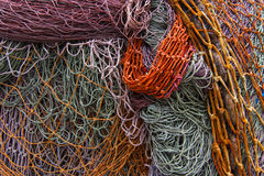 Discarded fishing nets detail royalty free stock image