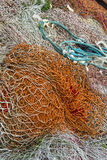 Discarded fishing nets ropes Royalty Free Stock Photos