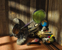 Discarded items in the corner Royalty Free Stock Images