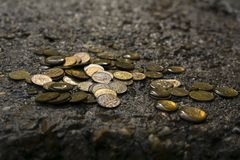 Discarded money royalty free stock image