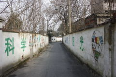 The discarded narrow street in Jiaxing city(Zhejiang,China) Royalty Free Stock Photography