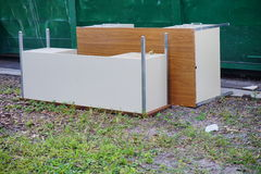 Discarded Office Desk. Taken in USA stock image