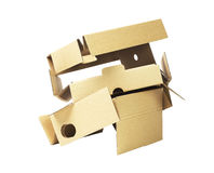 Discarded Packaging Cardboard Royalty Free Stock Image