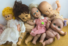 Discarded toy dolls Royalty Free Stock Photography