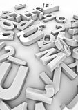 Discarded type. 3D render of letters in various typefaces Royalty Free Stock Photo