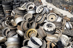 Discarded wheels. Stack of old discarded wheels Royalty Free Stock Images