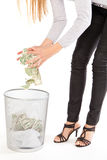 Discarding money Stock Images
