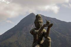 discepolo di grande Buddha Fotografia Stock