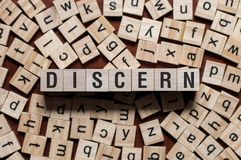 Discern word concept royalty free stock photos