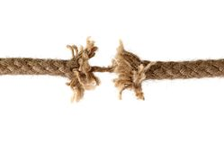 Discerped rope Royalty Free Stock Images