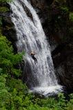 Discesa della cascata in Scozia immagine stock libera da diritti