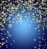 Discesa delle stelle e dei fiocchi di neve Fotografia Stock Libera da Diritti