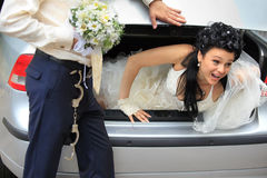 Discharge of captive bride Royalty Free Stock Images