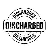 Discharged rubber stamp. Grunge design with dust scratches. Effects can be easily removed for a clean, crisp look. Color is easily changed Stock Photo