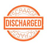 Discharged rubber stamp. Grunge design with dust scratches. Effects can be easily removed for a clean, crisp look. Color is easily changed Royalty Free Stock Photography