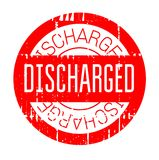 Discharged rubber stamp Royalty Free Stock Images