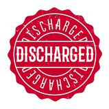 Discharged rubber stamp Royalty Free Stock Photos