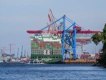 Discharging и нагружать контейнеров стоковое фото rf