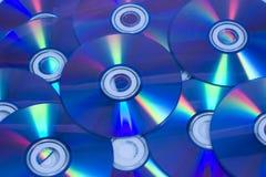 Dischi in bianco di CD/DVD Fotografia Stock Libera da Diritti