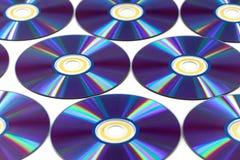 Dischi Cd del dvd fotografia stock