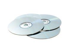 Dischi CD isolati Fotografia Stock Libera da Diritti
