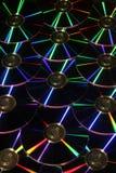 Dischi di DVD con le riflessioni Immagine Stock