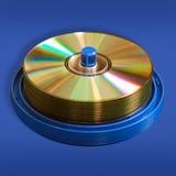Dischi di DVD e del CD Fotografia Stock