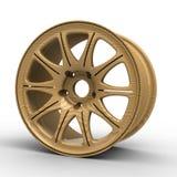 dischi per un'illustrazione dell'automobile 3D Immagini Stock