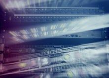 Dischi rigidi SATA del server Esposizione multipla Fotografia Stock Libera da Diritti