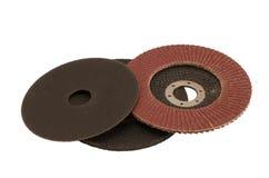 Dischi speciali del taglio della sabbiatrice della smerigliatrice di angolo isolati Immagini Stock