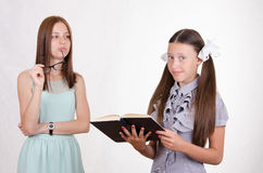 The disciple is not learned his lesson. School teacher scolds the student who does not do their homework Royalty Free Stock Photos