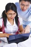 Disciples étudiant ensemble images libres de droits