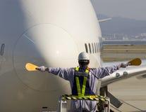 Disciplina del traffico dell'aeroporto fotografie stock libere da diritti