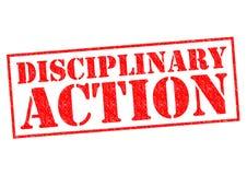 DISCIPLINAIRE ACTIE stock fotografie