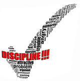 Discipline info text graphics. And arrangement concept (word clouds) on white background Royalty Free Stock Image