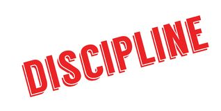 Discipline rubber stamp Royalty Free Stock Images