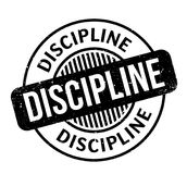 Discipline rubber stamp Royalty Free Stock Photo